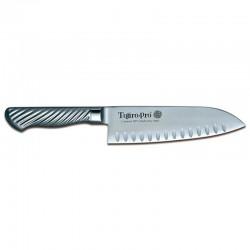 Μαχαίρι Santoku 17 Εκατ. με Αυλακώσεις Μονοκόμματο με Ανοξείδωτη Λαβή Tojiro-Pro Dp Cobalt