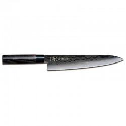 Μαχαίρι Σεφ 27 εκατ. από Δαμασκηνό Ατσάλι με Λαβή Καστανιάς Shippu Black