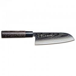 Μαχαίρι Santoku 16.5 εκατ. από Δαμασκηνό Ατσάλι με Λαβή Καστανιάς Shippu Black