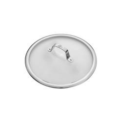 SG64 Γυάλινο καπάκι 24cm. με μεταλλικό χερούλι SALINA