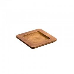 Τετράγωνη Ξύλινη Βάση για μαντεμένιο σκεύος σερβιρίσματος-Lodge
